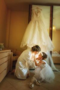 sposa con damigella