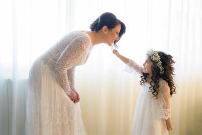 la sposa e la damigella