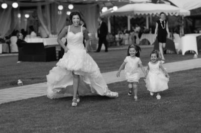 corsa con bambine